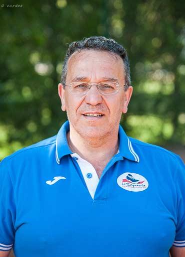 Maestro di Tennis Dino Giuliani al Centro Sportivo Le Sequoie, a Carsoli (AQ)